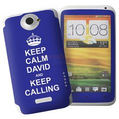 Personalised Blue Keep Calm HTC One X Phone Skin  from Personalised Gifts Shop - ONLY £7.95 Sunny 16, Mostly Sunny, Keep Calling, Gifts Under 10, Personalised Gifts, Htc One, Fathers Day Gifts, Keep Calm