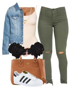 """""""Sylvie Finesse"""" by trillest-fashion ❤ liked on Polyvore featuring Bee Charming, Tory Burch and adidas"""