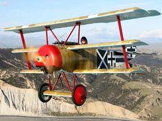 Fokker triplane inflight.