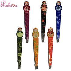5-4-2pinkiou-professional-slant-tip-eyebrow-tweezers-beauty-cosmetic-russia-matryoshka-style-makeup-clip-6-style-pack-of-6-pcs-matryoshka-0