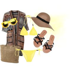 Beach by lenik24 on Polyvore featuring Glamorous, Heidi Klein, Wet Seal, River Island, Revo and Summer