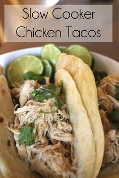 Slow Cooker Chicken Tacos - Two Places at Once