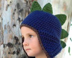 earflap hats for kids | Dinosaur Earflap Hat For Children