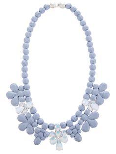 EK THONGPRASERTgrey drop necklace