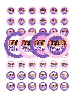 Lego Friends 1 Inch Stickers - Digital Download - Lego Friends Party