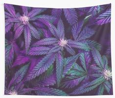 If you love cannabis and psychedelic prints then look no further. As this design is all about marijuana, cannabis, 420 or whatever you decide to call it. We can agree that this design is both hip and beautiful. Cannabis, Marijuana Art, Violet Aesthetic, Lavender Aesthetic, Floral Wall Art, Abstract Wall Art, Stoner, Marijuana Wallpaper, Psychedelic Decor