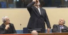 """#Bosnian #war chief """"#dies"""" after being filmed """"drinking poison"""" at The Hague..."""