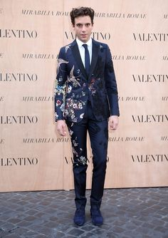 July 2015: Mika is pictured in his custom Valentino tuxedo for the brand's fall-winter 2015 couture show in Rome, Italy.