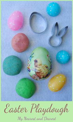 Easter Playdough Activity. Open-ended play for toddlers and preschoolers.