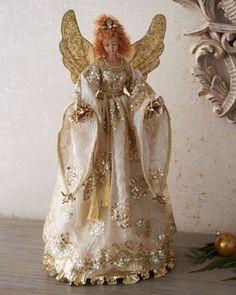 KATHERINES COLLECTION Gabriella Angel Tree Topper traditional holiday decorations