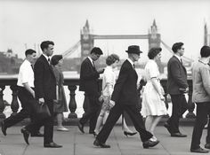 "Kees Scherer   ""Crossing the Thames"" London 1960-1963"