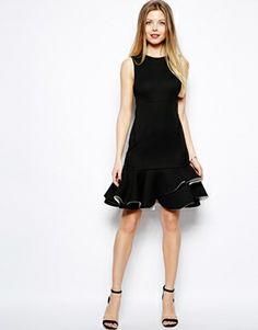Black mini dress Asos
