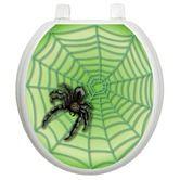 Found it at Wayfair - Seasonal Toilet Seat Applique with Spider Web Design