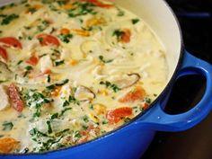 Tom Ka Kai (Chicken Coconut and Mushroom Soup)