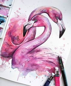 Colorful Animal Paintings, Watercolor Paintings Of Animals, African Art Paintings, Colorful Drawings, Art Drawings, Watercolor Artist, Watercolor Painting Techniques, Watercolor And Ink, Painting & Drawing