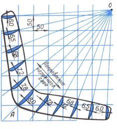 Бумеранг - шаблон разметка для нанесения на фанеру или доску