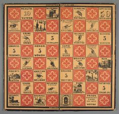 The Checkered Game of Life Milton Bradley's First Game, 1860 by Bruce Whitehill Based on a talk given by the author at the 2010 Board Game Studies Colloquium in Paris. Life Board Game, Board Games, Game Of Life, Game Boards, First Game, Big Game, American Games, Milton Bradley, Online Collections