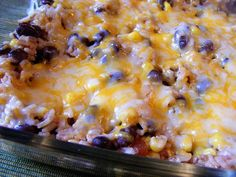 rice and beans *Really really good! A simple, cheap meal. Used as a main dish. Could eat with chips, or in tortilla shells, or as a side dish to tacos or something. Will make again!