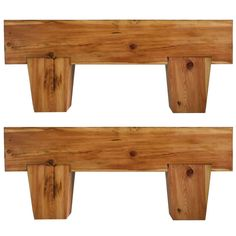 Pair of Massive Handwrought Solid Pine Consoles | From a unique collection of antique and modern console tables at http://www.1stdibs.com/tables/console-tables/