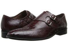 Stacy Adams Kasimir Burgundy Ostrich Leg & Crocodile Print Leather - Zappos.com Free Shipping BOTH Ways