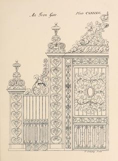 Design for an iron gate
