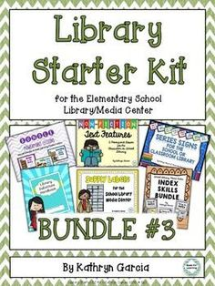 BUNDLE #3 includes Powerpoint lessons, Indexing lessons, Series and Supply labeling, AND a Substitute Binder especially for the school librarian. All at a savings! $
