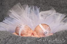 twin girls in tutus