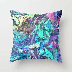 Holographic II Throw Pillow by Nestor2 on Wanelo