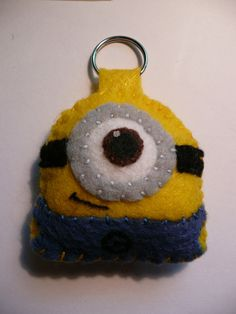 Despicable Me Minion Plush Keychain.