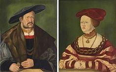 Portrait d'un homme et d'une femme, 1531 Hans Schopfer