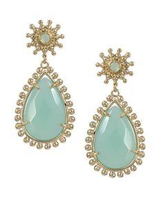 """Kendra Scott """"Mariena"""" Earrings in Chalcedony ~   www.kendrascott.com"""