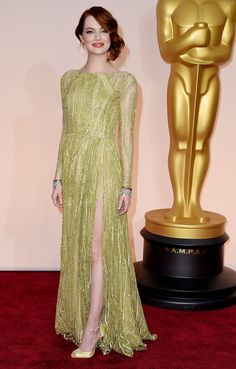 Oscars Red Carpet 2015 | Emma Stone in Elie Saab