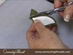 FREE Video - Freezer Paper Appliqué Technique      This video teaches you how to do freezer paper appliqué for quilts and other projects. For this method, you will need household freezer paper, a mini iron, and matching or monofilament thread. By Vicki Bellino of Bloom Creek, exclusively for ConnectingThreads.com.