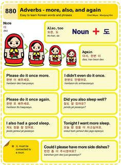 Easy to Learn Korean 880 - Adverbs: More, Also, and Again Chad Meyer and Moon-Jung Kim EasytoLearnKorean.com