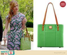 Paige's green bag on Royal Pains.  Outfit Details: http://wornontv.net/35292/ #RoyalPains