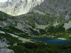 VysokéTatry - výhled na Velické pleso a Velický vodopád  Tatry Moutains, Slovakia