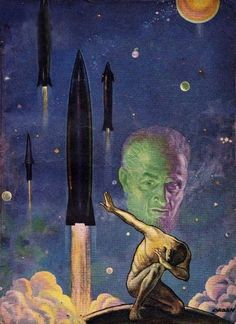 PAUL OBAN - art for Space Fear by James H. Schmitz - March 1951 Astounding Science Fiction
