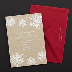 Snowflake Celebration Christmas Party Invitations http://partyblock.carlsoncraft.com/Holiday/Holiday-Party-Invitations/3166-NK27037-Snowflake-Celebration--Invitation.pro