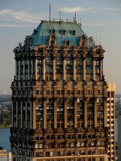Book Tower is a 476 ft, 38-story skyscraper located at 1265 Washington Boulevard in Downtown Detroit, Michigan, within the  Historic District. Construction began on the Italian Renaissance-style building in 1916 as an addition to the original Book Building and finished a decade later. Designed in the Academic Classicism style