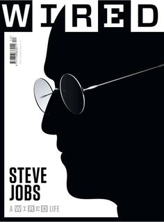 Steve Jobs as silhouette for Wired Magazine cover | Magazine Cover: Graphic Design, Typography, Photography |