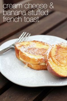 My breakfast to start off a perfect day.cream cheese and banana stuffed french toast from Bukhamseen Week for Dinner Breakfast Dishes, Best Breakfast, Breakfast Recipes, Mexican Breakfast, Breakfast Sandwiches, Breakfast Pizza, Breakfast Casserole, Breakfast Time, Brunch Recipes