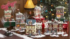 Another possibility to display my Christmas village...use prettily foil wrapped boxes of different sizes for various elevations. Also, as shown here, sprinkle snow in a more limited and strategic manner.