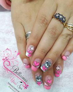 Coffen Nails, Bling Nails, Hair And Nails, Animal Nail Designs, Toe Nail Designs, Trendy Nail Art, Stylish Nails, Cute Acrylic Nails, Cute Nails