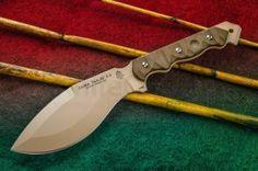 TOPS Knives CUMA TAK-RI 3.5 Fixed 7 inch Tan Kukri Blade, Micarta Onlays, Nylon Sheath
