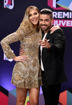 Daniela Di Giacomo and Borja Voces attend the Univision's 'Premios Juventud' 2017 Celebrates The Hottest Musical Artists And Young Latinos...