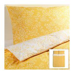 IKEA Akertistel Duvet Quilt Cover Yellow retro Sunny bedding ÅKERTISTEL