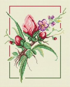This Pin was discovered by Lin Cross Stitch Borders, Cross Stitch Flowers, Cross Stitch Patterns, Rose Mehndi Designs, Beaded Cross, Bargello, Amazing Flowers, Hobbies And Crafts, Flower Vases