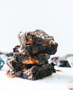 Olive Oil and Sea Salt Truffle Brownies #oliveoil #truffle #brownies
