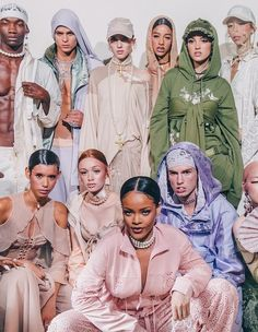Bad Gal and crew at the Fenty x Puma show during Paris Fashion Week.