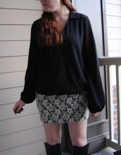 Black + white #ootd from Friday's post. { full blog post at stripedflats.com }